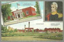 Postcard of Old Hickory, Tennessee Post Office and Dupont Factory