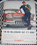 1956 Plymouth Automobile Life Magazine Advertisement