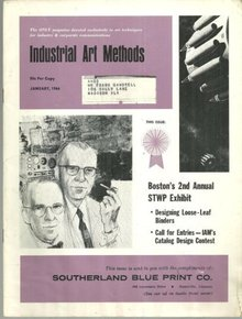 Industrial Art Methods Magazine January 1966 Designing Those Loose Leaf Covers