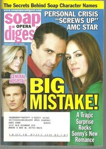 Soap Opera Digest Magazine January 31, 2006 General Hospital Sonny's Big Mistake