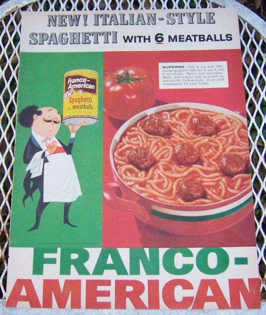 1956 Franco-American Spaghetti Life Magazine Advertisement