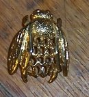 Vintage Gold Tone Napier Bumble Bee Scatter Pin