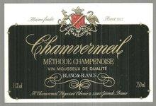 Vintage Label for Chamvermeil Methode Champenoise Wine