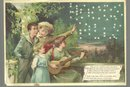 Hold to Light Victorian Trade Card for Hood's Vegetable Pills with Children