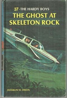 Ghost at Skeleton Rock by Franklin Dixon Hardy Boys #37 1966 Matte Blue Cover