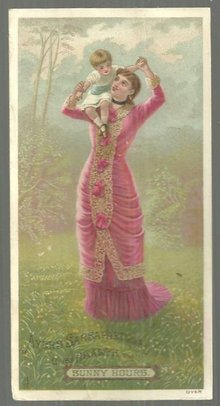 Victorian Trade Card for Ayer's Sarsaparilla Mother and Baby Sunny Hours