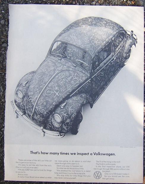 1964 Volkswagen Saturday Evening Post Magazine Advertisement