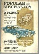 Popular Mechanics Magazine January 1966 Luxury Cars Rich People Drive