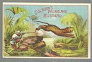 Victorian Trade Card for Colburn's Philadelphia Mustard with Big Game Hunter