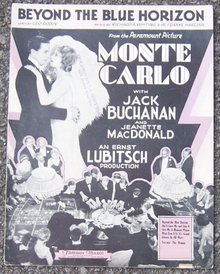 Beyond the Blue Horizon From Monte Carlo Starring Jeanette MacDonald 1940 Music