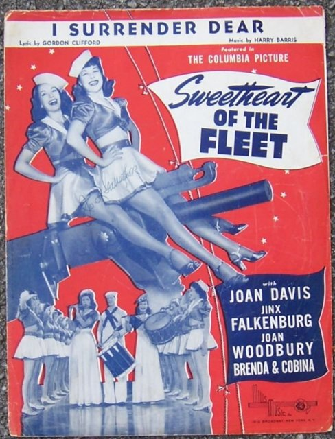 I Surrender Dear From Sweetheart of the Fleet Starring Joan Davis 1931 Music