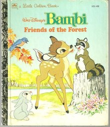 Walt Disney's Bambi Friends of the Forest 1993 Little Golden Book Vol. 10162