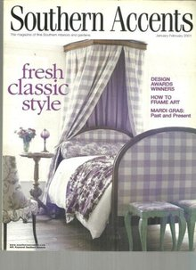 Southern Accents Magazine January-February 2001 Fresh Classic Style on the Cover