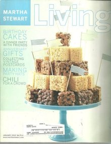 Martha Stewart Living Magazine January 2002 Birthdays and Anniversaries Issue