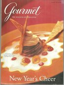 Gourmet Magazine January 1997 New Year's Cheer on the Cover