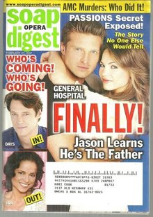 Soap Opera Digest February 27, 2007 Jason and Elizabeth on the Cover