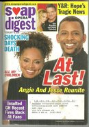 Soap Opera Digest February 19, 2008 Angie and Jessie Reunite At Last on Cover