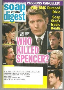 Soap Opera Digest February 6, 2007 Who Killed Spencer from One Life to Live