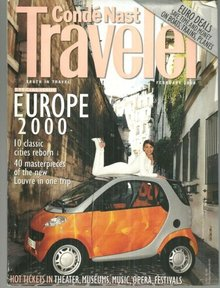 Conde Nast Traveler Magazine February 2000 Europe 2000 on the Cover