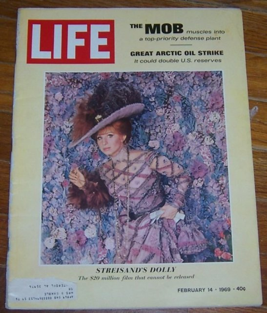 Life Magazine February 14, 1969 Barbara Streisand as Dolly on cover