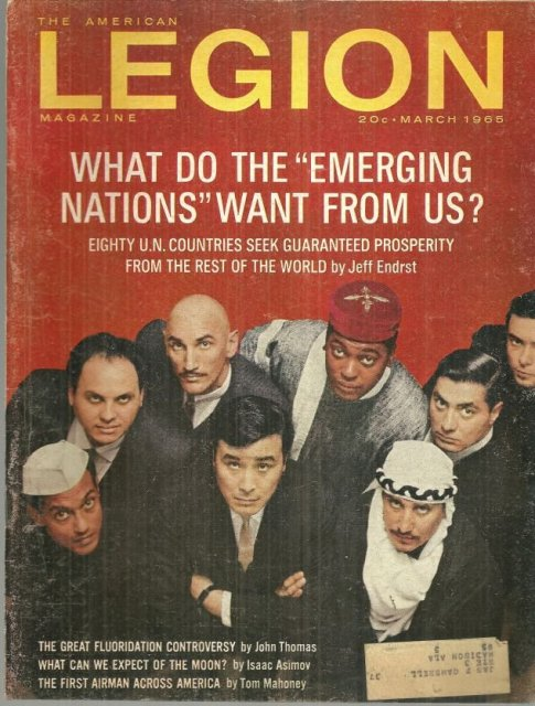 American Legion Magazine March 1965 What Can We Expect of the Moon