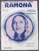 Ramona Sheet Music Starring Dolores Del Rio Star of the Photoplay Ramona 1927