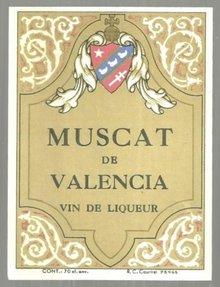 Vintage Label for Muscat de Valencia Vin de Liqueur