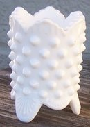 Vintage White Milk Glass Hobnail Small Toothpick