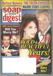 Soap Opera Digest Magazine March 27, 2007 Bold and Beautiful 20 Years on Cover