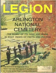 American Legion Magazine January 1966 Arlington National Cemetery on the Cover