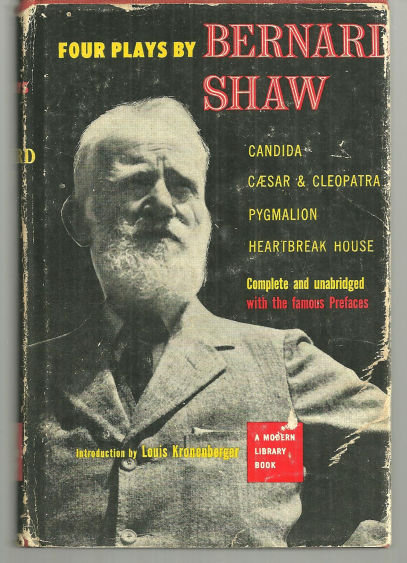 Four Plays By Bernard Shaw by Bernard Shaw 1953 Modern Library with Dustjacket