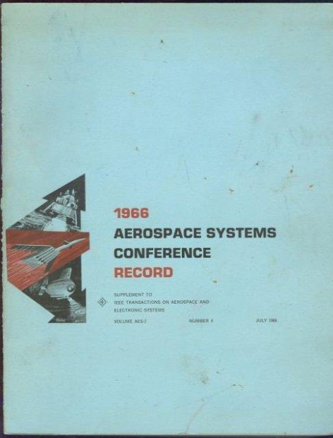 1966 Aerospace Systems Conference Record 4 July 1966 Seattle, Washington