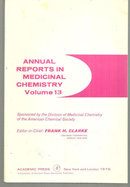 Annual Reports Medicinal Chemistry Volume 13 Edited by Frank Clarke 1978