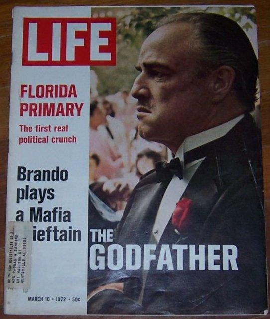 Life Magazine March 10, 1972 Brando Plays a Mafia Chieftain, The Godfather Cover