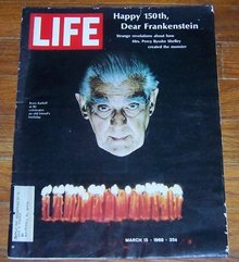 Life Magazine March 15, 1968 Boris Karloff at 80 Celebrates Frankenstein's 150th