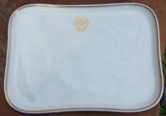 Vintage Lamberton Scammeli China Lycoming Serving Tray with Gold Trim