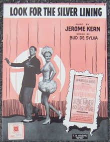 Look for the Silver Lining starring June Haver and Ray Bolger 1920 Sheet Music