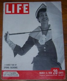 Life Magazine March 13, 1950 Dorian Leigh In Spring Fashions on cover