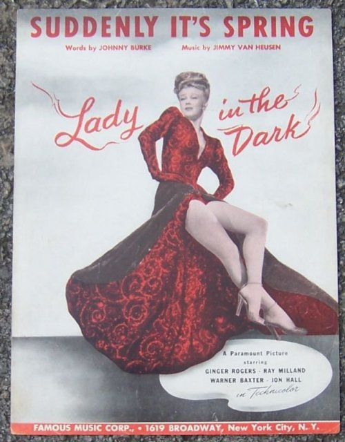 Suddenly It's Spring From Lady in the Dark Starring Ginger Rogers 1943 Music