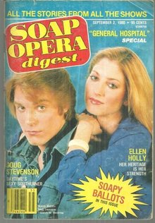 Soap Opera Digest Magazine September 2 1980 Marcia McCabe and Doug Stevenson SFT