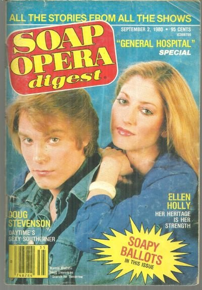 Soap Opera Digest Magazine September 2 1980 Marcia McCabe and Doug Stevenson SFT