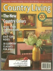 Country Living Magazine March 1998 New Country Colors On the Cover