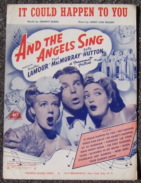 It Could Happen to You Starring Dorothy Lamour, Fred MacMurray and Betty Hutton