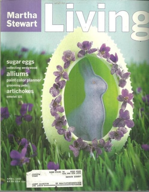 Martha Stewart Living Magazine April 1997 Sugar Egg on Cover.