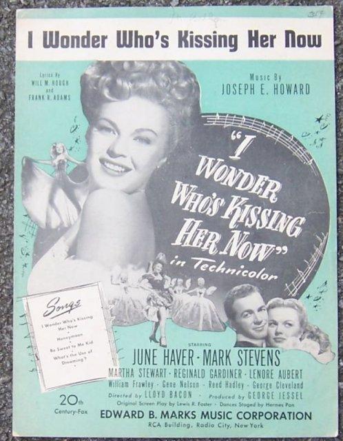 I Wonder Who's Kissing Her Now starring June Haver and Mark Stevens 1936 Music
