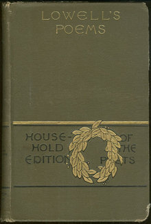 Poetical Works of James Russell Lowell Household Edition 1890 Illustrated