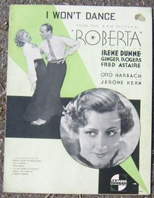 I Won't Dance From Roberta starring Irene Dunne Ginger Rogers Fred Astaire 1935