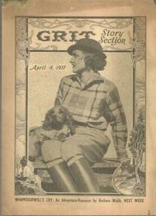Grit Story Section April 7, 1937 Vintage Fiction, Poetry, Jokes and Comics