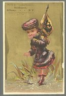 Victorian Trade Card for Price and Knickerbocker Seedman, Albany, New York
