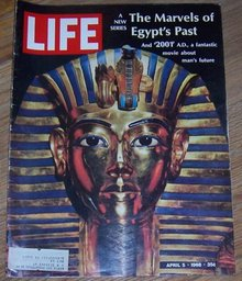 Life Magazine April 5, 1968 King Tut, The Marvels of Egypt's Past on cover